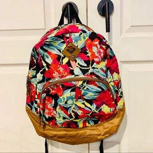{ROXY} Hawaiian Print Floral Backpack